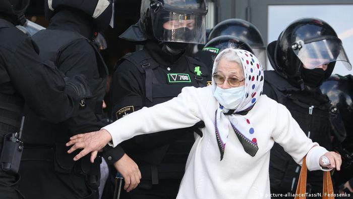 Літня учасниця протестів в Мінську