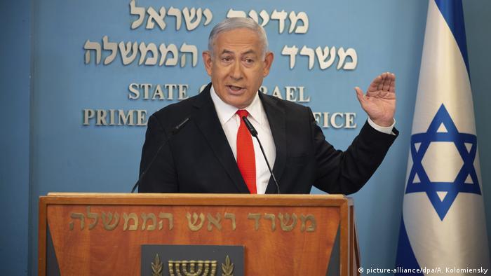Israel I Coronavirus I Ansprache Benjamin Netanjahu (picture-alliance/dpa/A. Kolomiensky)