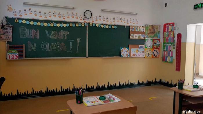 O clasa goala inainte de prima zi de scoala