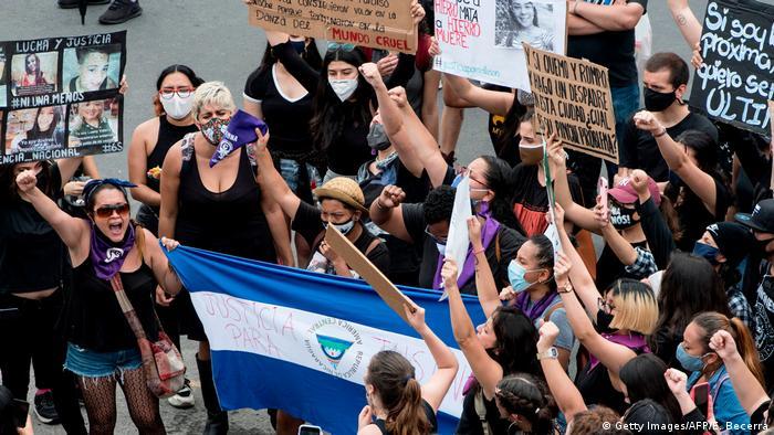 Protestas por los derechos de la mujer en Nicaragua. (6.09.2020).