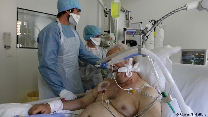 Coronavirus | Frankreich Marseille Intensivstation (Reuters/E. Gaillard)