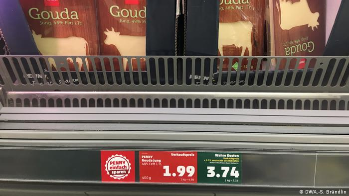 Gouda cheese at the supermarket