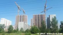 Ukraine - nicht fertiggebaute Häuser in Kiew
