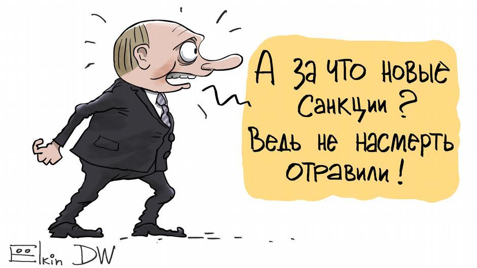 Карикатурист Елкин о Путине и Навальном (фотогалерея) | Россия и россияне:  взгляд из Европы | DW | 09.10.2017