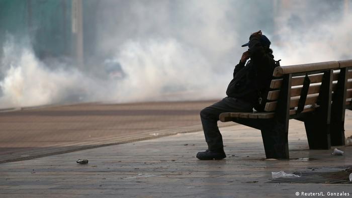 Kolumbien Bogota Protest Gewalt Ausschreitung