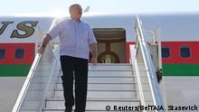 Russland Sotschi Ankunft Präsident von Belarus Alexander Lukaschenko (Reuters/BelTA/A. Stasevich)