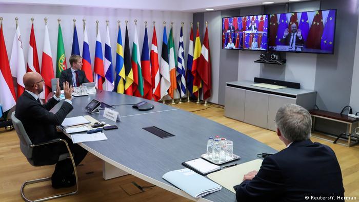 KTT Uni Eropa - Cina (Reuters/Y. Herman)