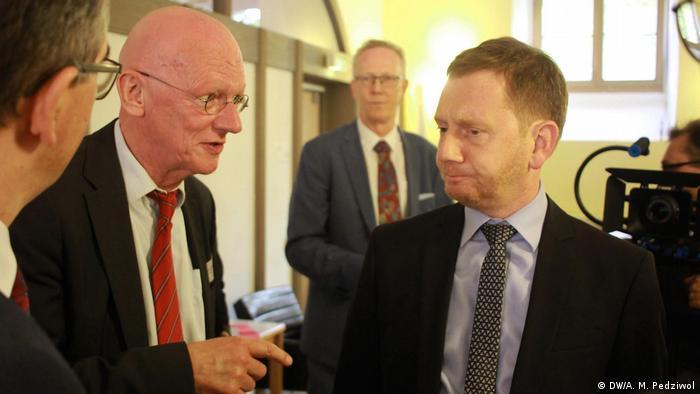 Gunnar Hille i premier Saksonii Michael Kretschmer