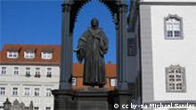 Melanchton-Denkmal auf dem Wittenberger Marktplatz