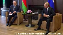 Russland Sotschi Treffen Putin und Lukaschenko