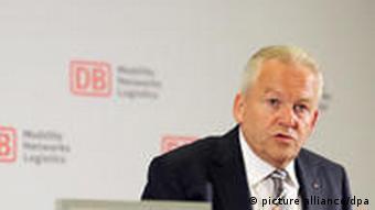 Deutsche Bahn boss Ruediger Grube