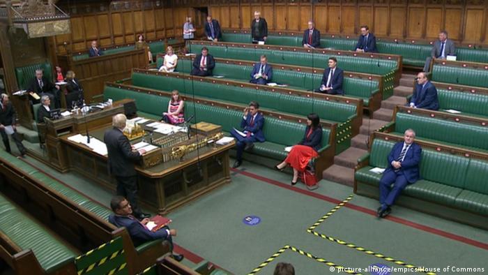 UK PM Boris Johnson speaks as Parliament debates the Internal Market Bill
