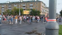 Teilnehmer an den Protesten in Brest