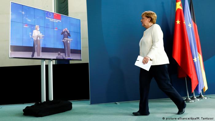 Deutschland Berlin | Video-Gipfel Europäischer Rat | Angela Merkel, Bundeskanzlerin