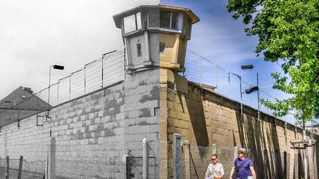 À gauche, la partie extérieure de la prison Hohenschönhausen avant 1989 et à droite, le mémorial tel qu'il est aujourd'hui