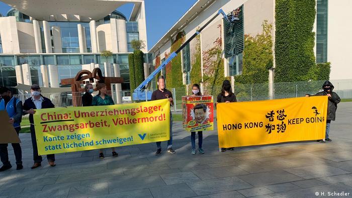Deutschland Berlin | Protest | Gesellschaft für bedrohte Völker (H. Schedler)