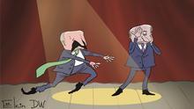 Karikatur von Sergey Elkin Lukaschenko bei Putin
