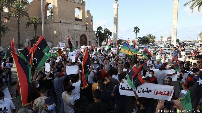 Proteste in Libyen (picture-alliance/AA/H. Turkia)