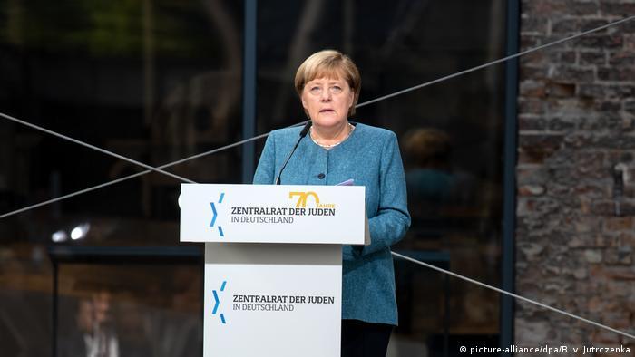 Меркель виступає на ювілеї Центральної ради євреїв