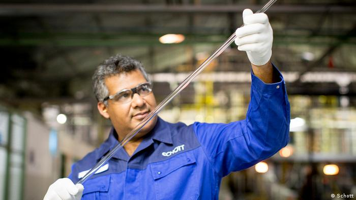 Proizvodnja specijalnog stakla u fabrici Šot u Majncu