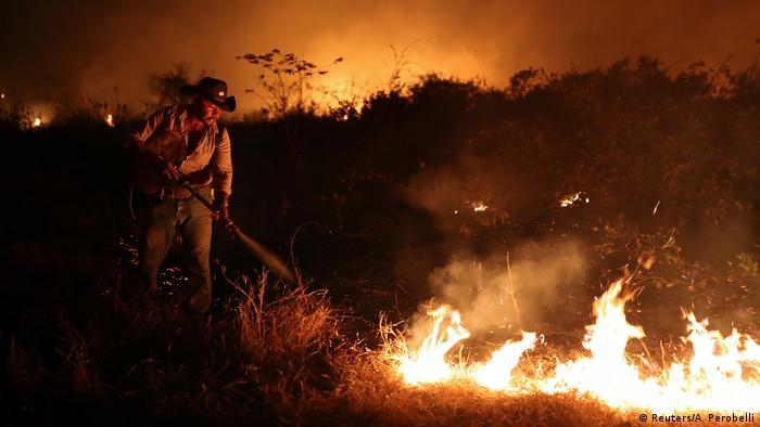 Brasilien Pantanal | Waldbrände | Farmer (Reuters/A. Perobelli)