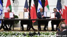 USA Washington Weißes Haus | Abkommen Naher Osten