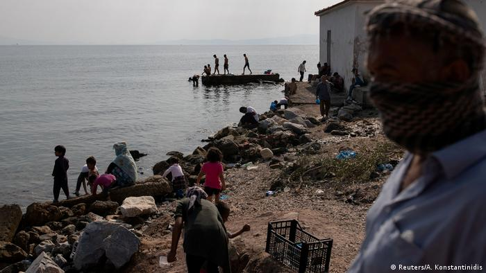 Refugees, migrants on Lesbos