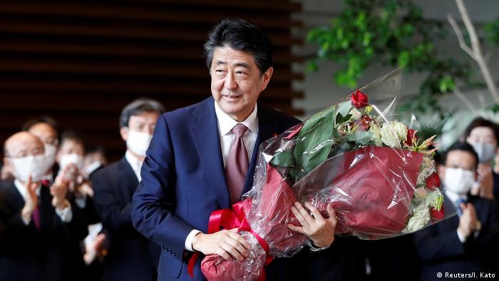 Former Japanese PM Shinzo Abe (Reuters/I. Kato)