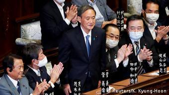 Japan Wahl neuer Regierungschef Yoshihide Suga