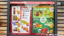 Penny weist versteckte Umweltkosten auf Preisschildern aus