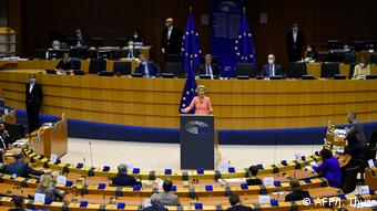 Ursula von der Leyen's Rede zur Lage der EU (AFP/J. Thys)