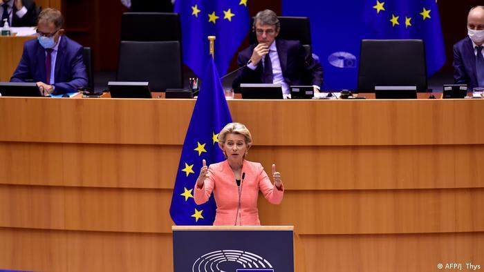 Selon Ursula von der Leyen, l'UE doit sortir de l'impasse actuelle et faire face à la tâche (AFP/J. Thys)