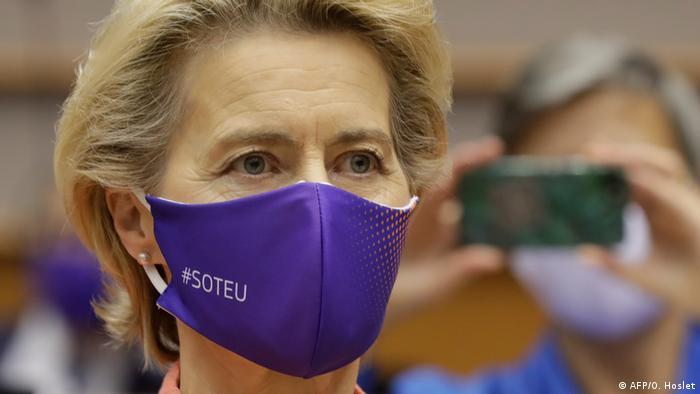 Ursula von der Leyen's Rede zur Lage der EU (AFP/O. Hoslet)