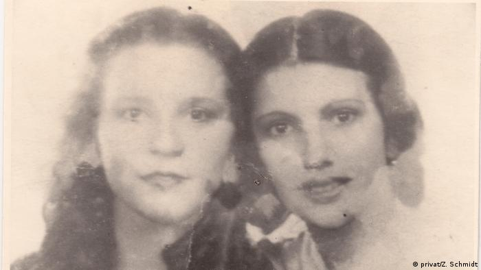 Close-up of Tilla and Zilli as young women (privat/Z. Schmidt)