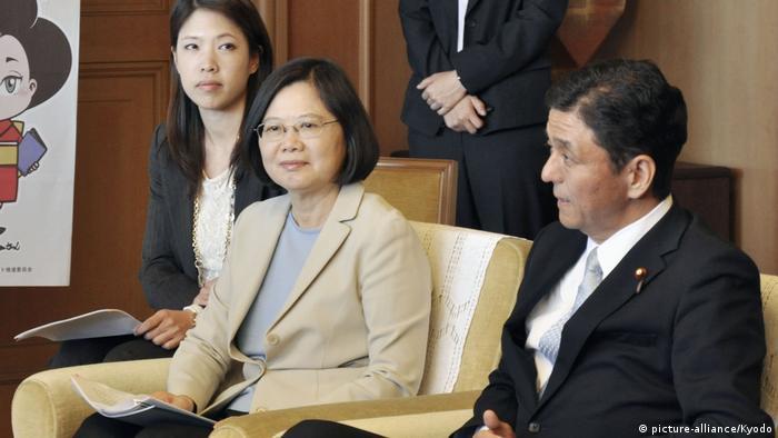 Japan Yamaguchi   Tsai Ing-wen bund Nobuo Kishi (picture-alliance/Kyodo)