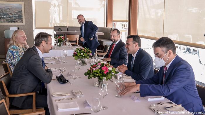 Griechenland Athen | Treffen | Mitsotakis und Zaev (Gov. of Rep. of North Macedonia)