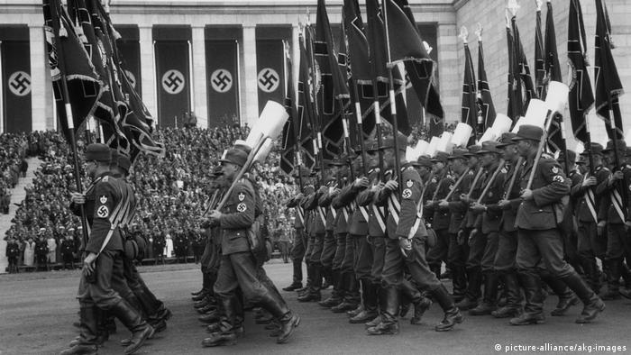 Nazi parade in Nuremberg 1936