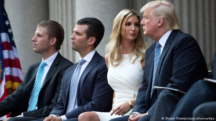 US-Präsident Donald Trump mit seinen Kindern