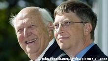 USA Seattle | Bill Gates und Vater William H. Gates Senior