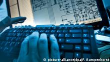 Representational image of a screen and keyboard.