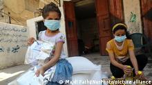الأطفال الغزاويون يلتزمون بإجراءات السلامة في مواجهة كورونا