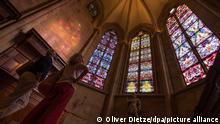 Deutschland Kirchenfenster von Gerhard Richter in der Abteikirche Tholey