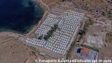 Griechenland Lesbos | Luftaufnahme neues Migranten-Lager Kara Tepe