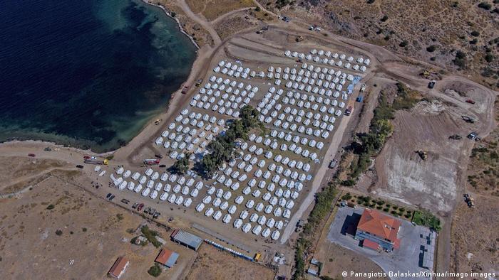 Obóz Kara Tepe dla uchodźców (Panagiotis Balaskas/Xinhua/imago images)