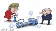 Karikatur von Sergey Elkin | EU-Sanktionen Russland