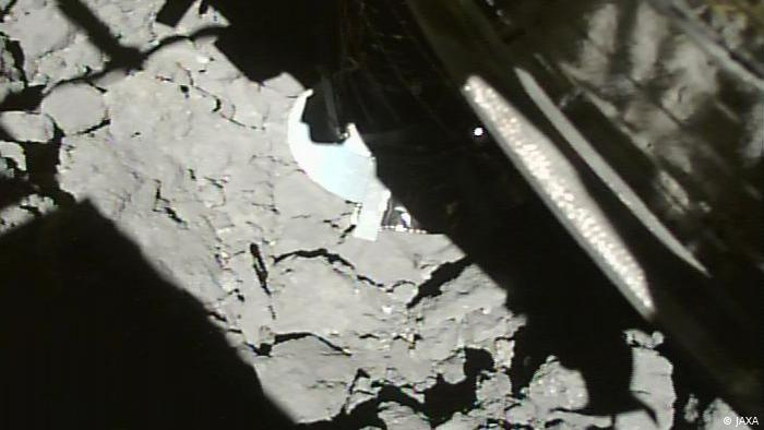 Image of the Hayabusa-2 that landed on the asteroid Ryugu
