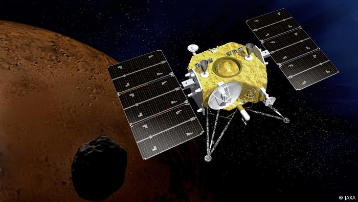 A concept image of Japan's MMX Martian Moons eXploration spacecraft