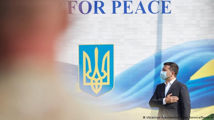 Volodymyr Zelenskiy, Ukraine's president, attends military exercises in Lviv