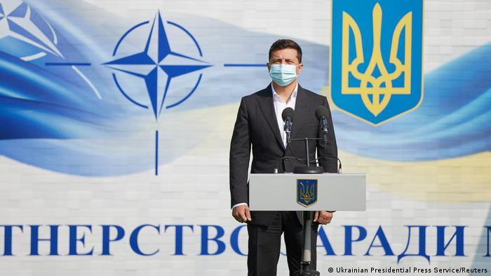 Володимир Зеленський взяв участь у церемонії відкриття навчань Rapid Trident-2020