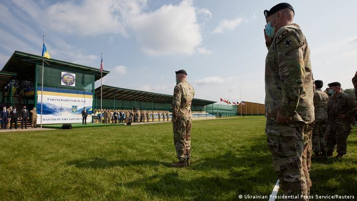 Многонациональные военные учения в Украине